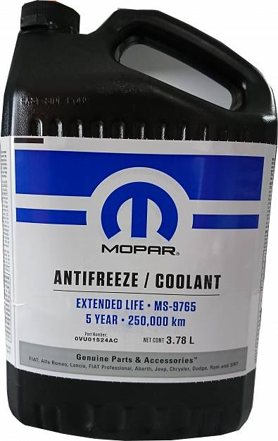 Koncentrat płynu do chłodnic MOPAR  ANTIFREEZE / COOLANT  5 YEAR / 250000km - MS9765 - 3,785l.