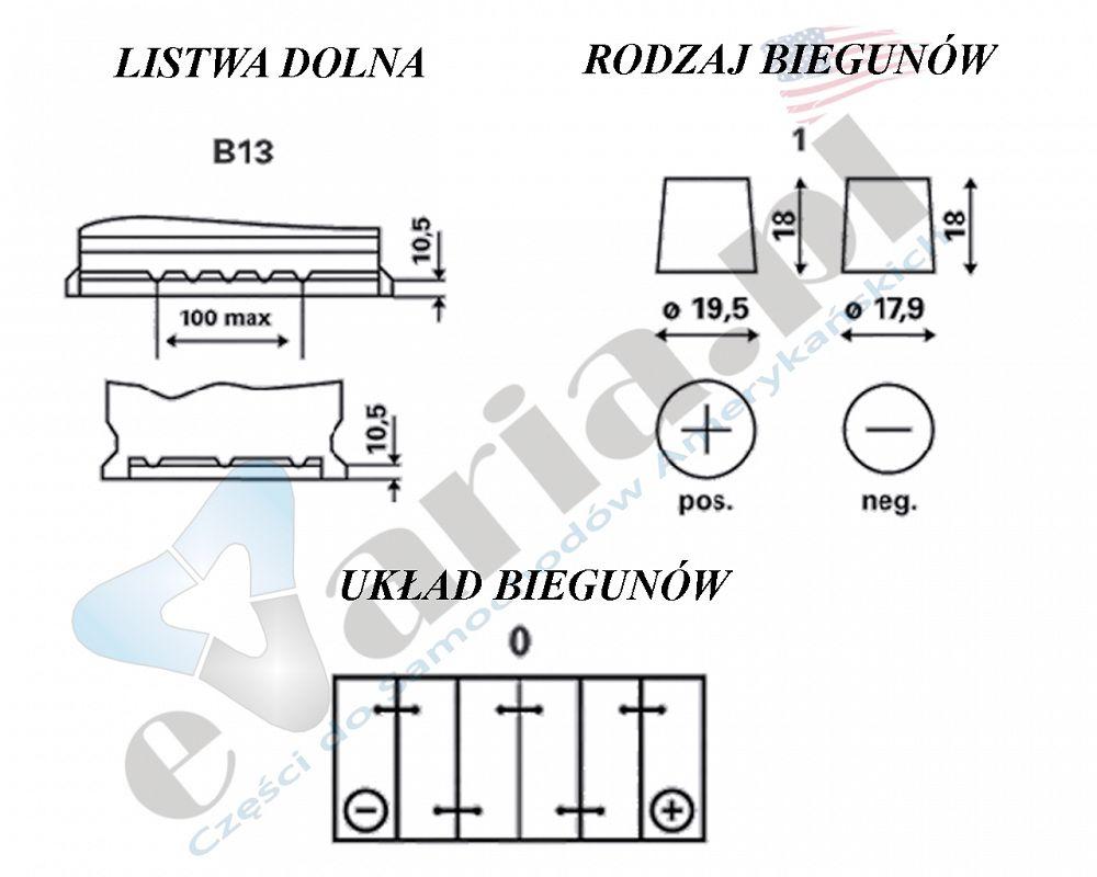 AKUMULATOR Varta BLUE DYNAMIC 12V 74Ah 680A P+ 278x175x190