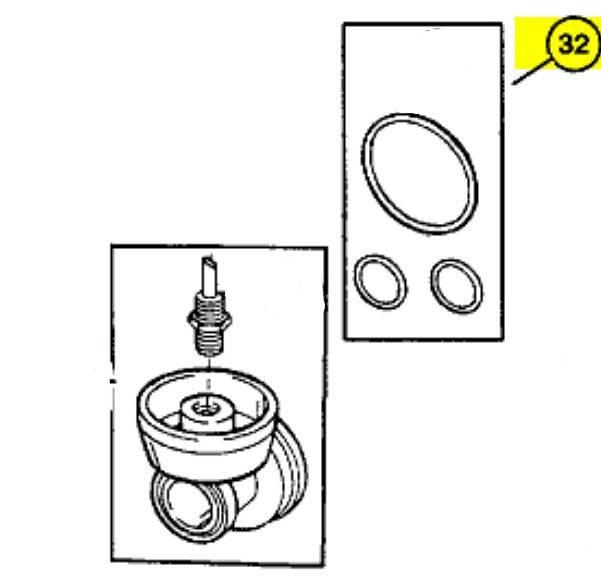 Uszczelniacze / uszczelki podstawy filtra oleju 4.0 Jeep